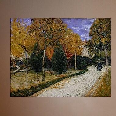 Wallhogs Van Gogh Path in the Park at Arles (1888) Wall Mural; 28'' H x 36'' W
