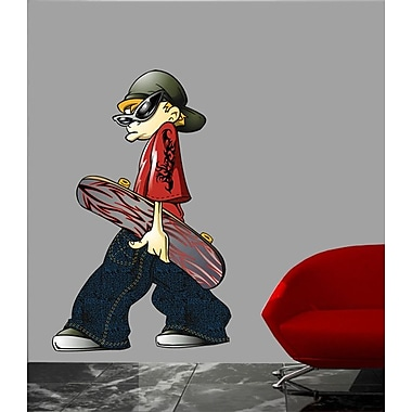 Wallhogs Skateboard Dude Cutout Wall Decal; 24'' H x 15'' W