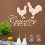 DecaltheWalls Country Kitchen Graphic Wall Decal; Beige