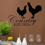 DecaltheWalls Country Kitchen Graphic Wall Decal; Black