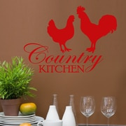 DecaltheWalls Country Kitchen Graphic Wall Decal; Red