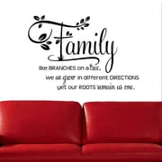 DecaltheWalls Family Like Branches on a Tree' Two-tone Wall Decal; Black/Black