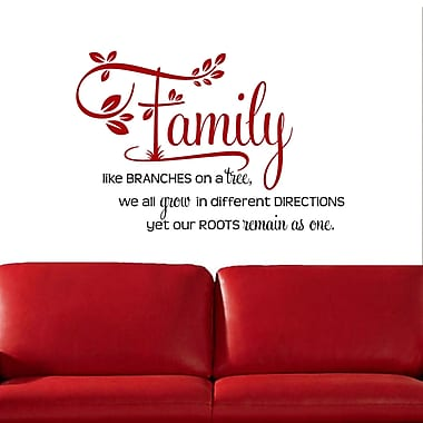 DecaltheWalls Family Like Branches on a Tree' Two-tone Wall Decal; Red/Black