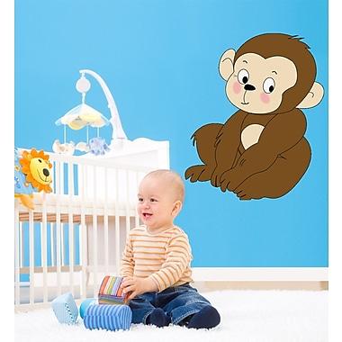 Wallhogs Baby Monkey Cutout Wall Decal; 30'' H x 36'' W