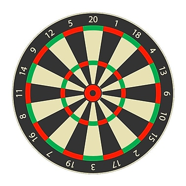 Wallhogs Dart Board Cutout Wall Decal; 24'' H x 24'' W