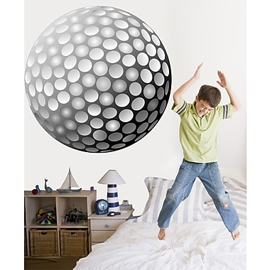 Wallhogs Golf Ball Cutout Wall Decal; 48'' H x 48'' W