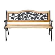 Outsunny Floral Outdoor Metal Park Bench