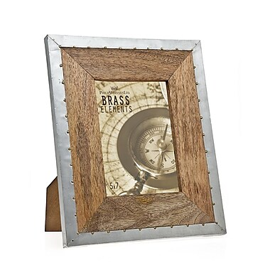 Philip Whitney Wood Rivet Trim Picture Frame