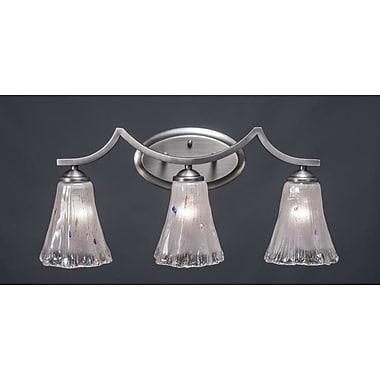 Toltec Lighting Zilo 3-Light Vanity Light; Graphite