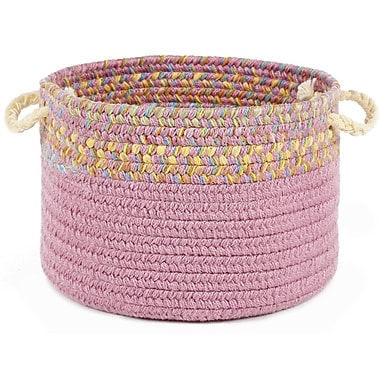 Wildon Home Breigh Banded Basket; Pink