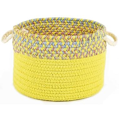 Wildon Home Breigh Banded Basket; Yellow