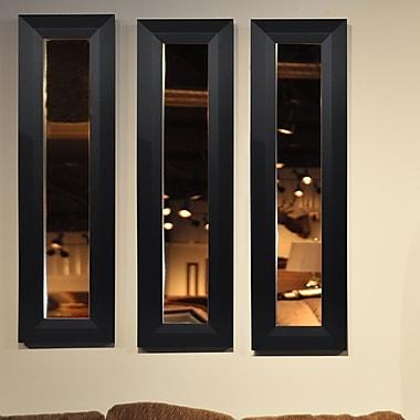 Rayne Mirrors Molly Dawn Solid Black Angle Mirror Panel; 25.5'' H x 9.5'' W x 0.75'' D