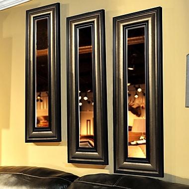 Rayne Mirrors Molly Dawn Stepped Antiqued Mirror Panel; 25'' H x 13'' W x 2'' D