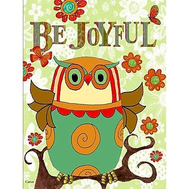 Caroline's Treasures Be Joyful Owl 2-Sided Garden Flag