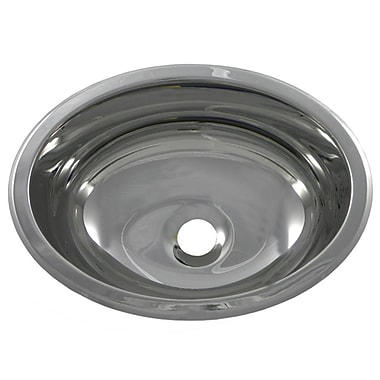 Opella 13.3'' X 10.5'' Bar Sink; Polished Stainless Steel
