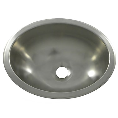 Opella 13.3'' X 10.5'' Bar Sink; Brushed Stainless Steel
