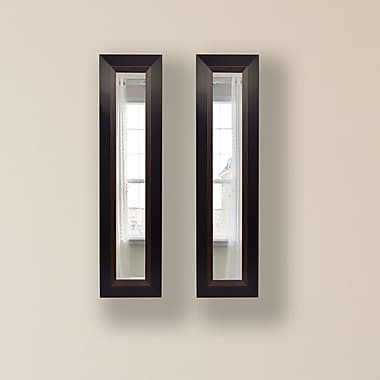Rayne Mirrors Molly Dawn Brown Lining Mirror Panels (Set of 2); 29.75'' H x 11.75'' W x 0.75'' D