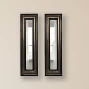 Rayne Mirrors Molly Dawn Stepped Antiqued Mirror Panels (Set of 2); 33'' H x 15'' W x 0.75'' D