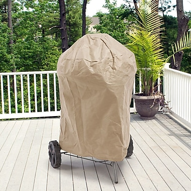 BudgeIndustries All-Seasons Round Smoker Grill Cover; Tan