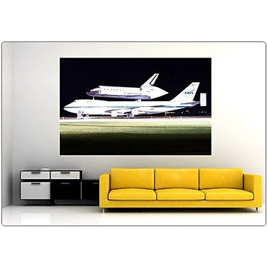 Wallhogs PFP Space Shuttle Atlantis Wall Mural; 23'' H x 36'' W