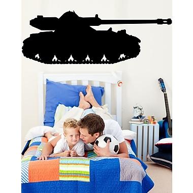 Wallhogs Haynes Military Tank II Silhouette Cutout Wall Decal; 8.5'' H x 24'' W