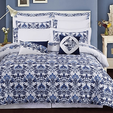 Tribeca Living Catalina 12 Piece Bed-In-A-Bag Set; Queen