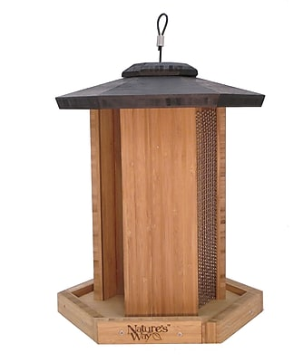 Nature's Way Triple Chamber Gazebo Hopper Bird Feeder (WYF078278167412) photo