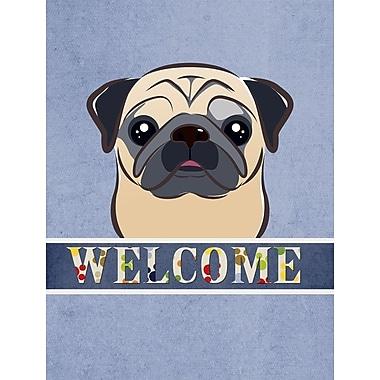 Caroline's Treasures Pug Welcome 2-Sided Garden Flag; Fawn