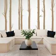 SissyLittle 8 Piece Woodland Tree Wall Decal Set; Light Brown