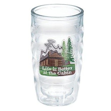 Tervis Tumbler Great Outdoors Life is Better at the Cabin 10 Oz. Wavy Tumbler; No