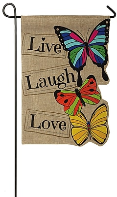 Evergreen Enterprises, Inc Live Laugh Love Garden Flag