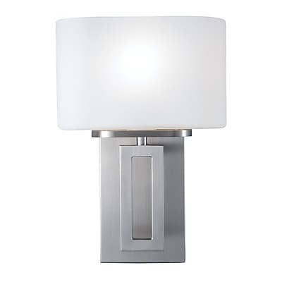 Norwell Lighting Hamilton 1-Light Wall Sconce; Brushed Nickel