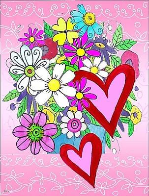 Caroline's Treasures True Love Bouquet Valentine's Day Vertical Flag