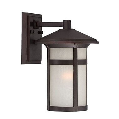 Acclaim Lighting Phoenix 1-Light Outdoor Wall Lantern; Architectural Bronze