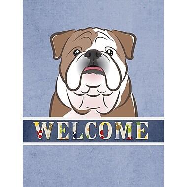 Caroline's Treasures Welcome English Bulldog Vertical Flag
