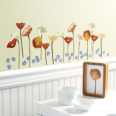 Wallies Springtime Poppies Wall Decal