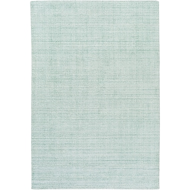 Highland Dunes Chesterbrook Hand-Loomed Sea Foam Area Rug; 5' x 7'6''