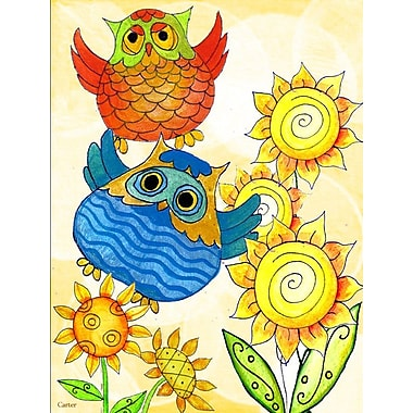 Caroline's Treasures Celebrate Owl Vertical Flag