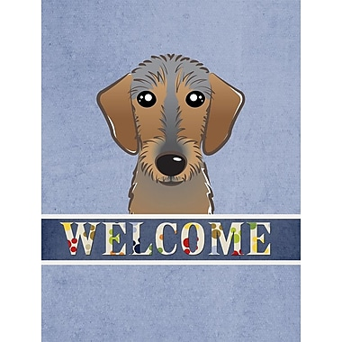 Caroline's Treasures Welcome Wirehaired Dachshund Vertical Flag