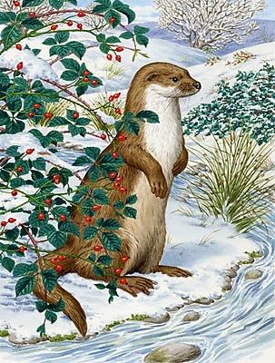 Caroline's Treasures Otter Vertical Flag