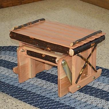 A&L Furniture Hickory Gliding Ottoman; Natural