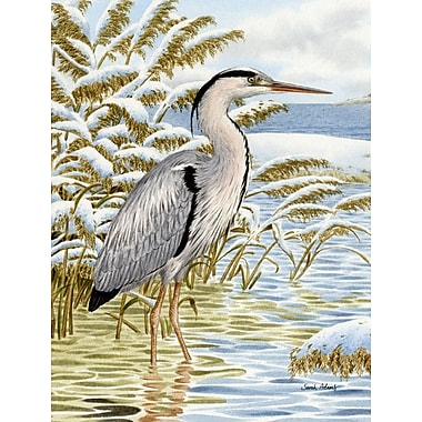 Caroline's Treasures Blue Heron in the water Vertical Flag