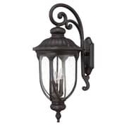 Acclaim Lighting Laurens 3-Light Outdoor Wall Lantern; Black Coral