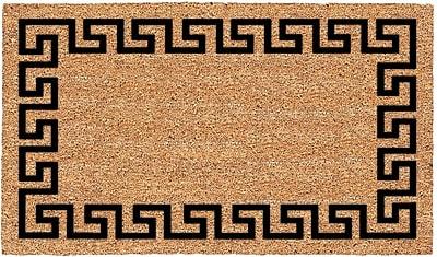US Cocoa Mat DeCoir Greek Key Doormat