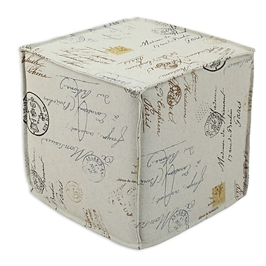 Brite Ideas Living Postale Seamed Cube Ottoman