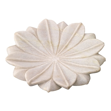 Jamie Young Company Lotus Marble Plate (Set of 3); Medium