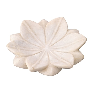 Jamie Young Company Lotus Marble Plate (Set of 3); Small