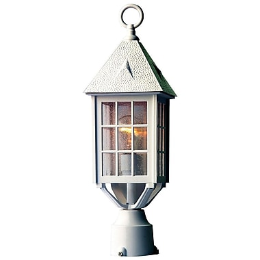 Acclaim Lighting Outer Banks Outdoor 1-Light Lantern Head; Textured White