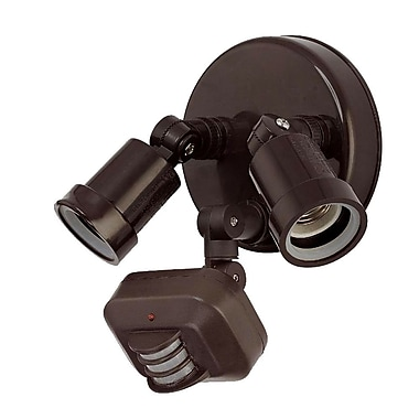 Acclaim Lighting Motion Activated SpotLight; Architectural Bronze