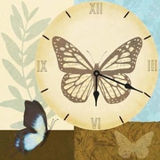 PTM Images Butterfly Clock